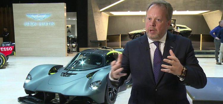 """Andy Palmer dit que la croissance des ventes d'Aston's Martin de 26% l'an dernier a été """" très, très bonne """"."""