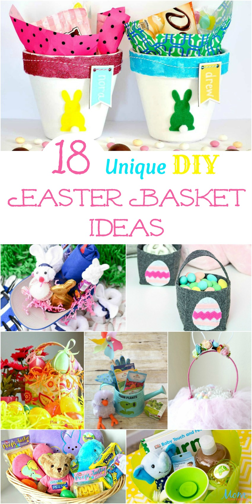 18 Unique DIY Easter Basket Ideas too Cute Not to Try! #easter #diy #easterbunny #easterbasket #crafts