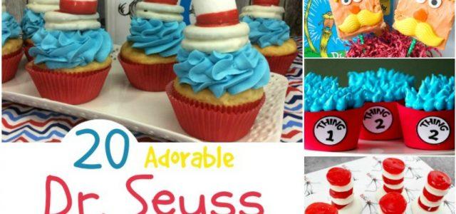 20 adorables petits gâteaux et gâteries du Dr Seuss