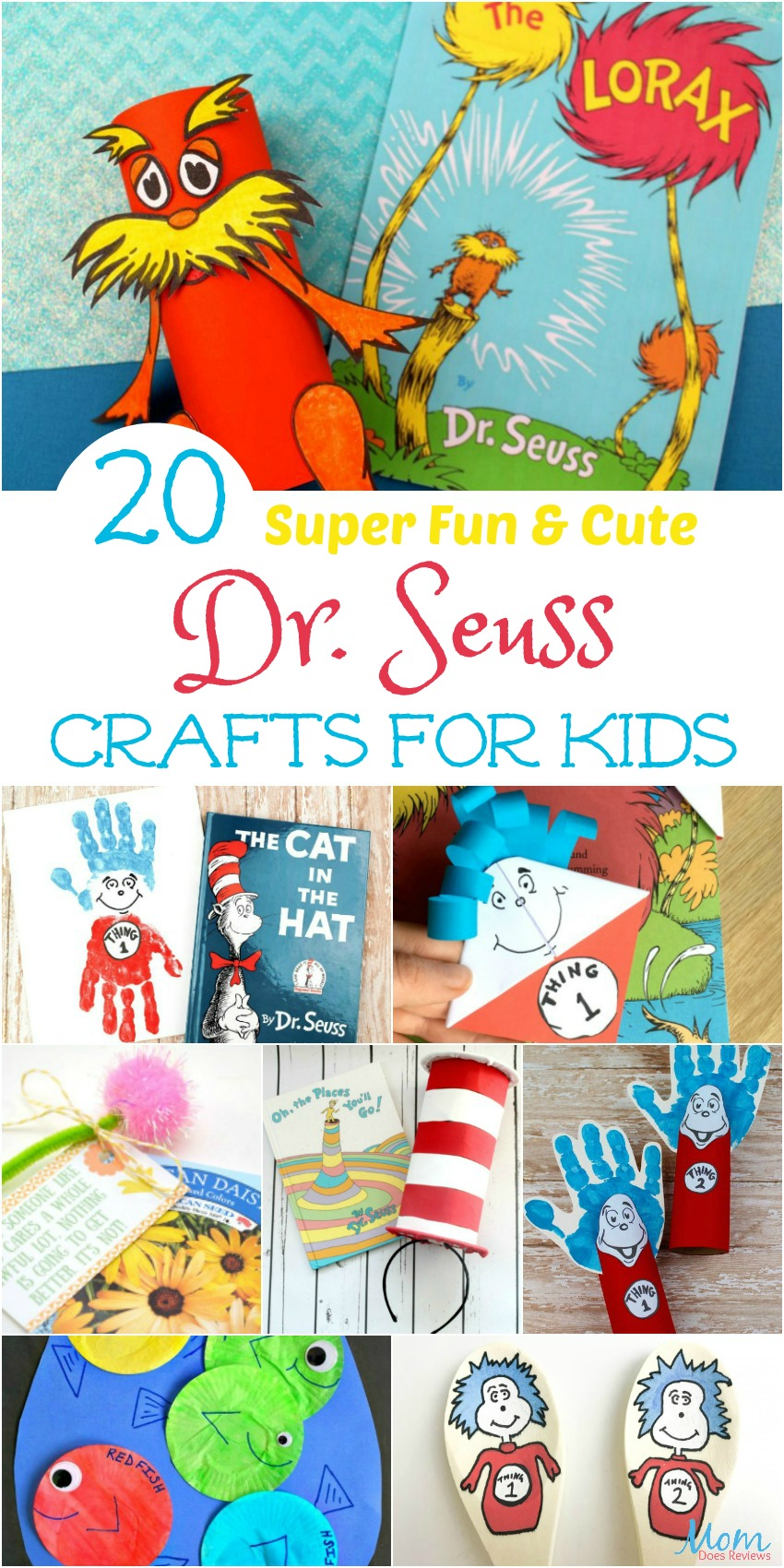 20 Super Fun & Cute Dr. Seuss Crafts for Kids  #crafts #funstuff #drseuss #fun #momapproved