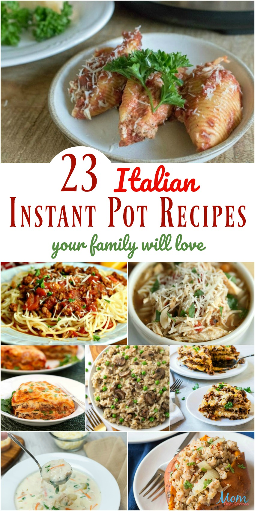 23 Easy Italian Instant Pot Recipes your Family Will Love #recipes #instantpot #pasta #getinmybelly #foodie