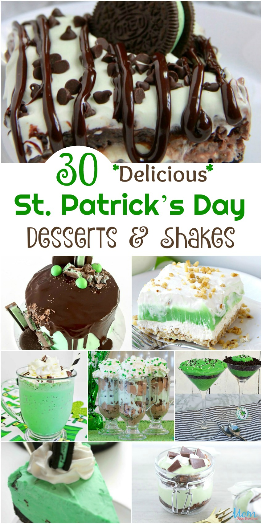 30 Delicious St. Patrick's Day Desserts & Shakes You Will Love  #desserts #sweets #recipes #shakes #stpattysday