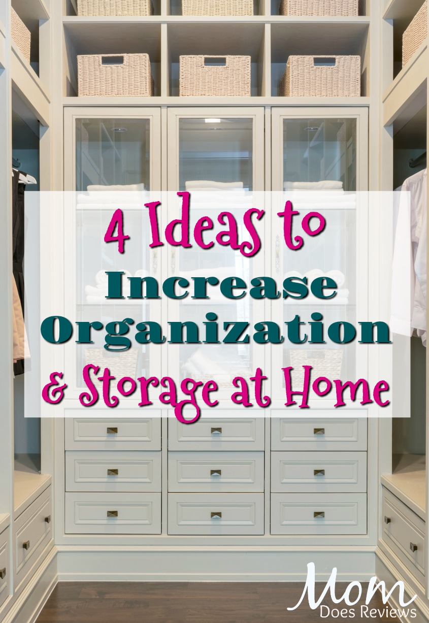 4 Ideas to Help Increase Organization and Storage at Home #organization #storage #home