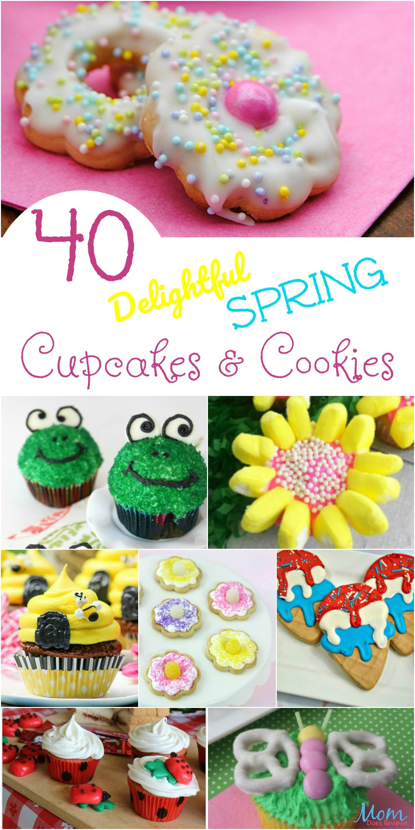 40 Delightful Spring Cupcakes & Cookies that Will Make You Smile #SpringfunonMDR #cookies #cupackes #outrageouscupcakes #desserts #recipes
