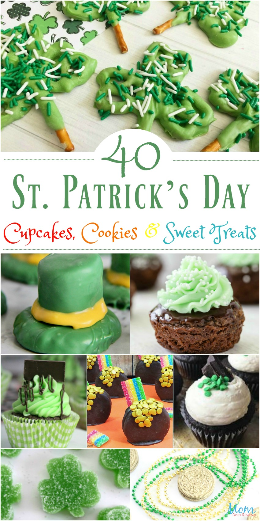 40 St. Patrick's Day Cupcakes, Cookies & Sweet Treats for a Fun Celebration #cupcakes #cookies #sweets #stpattysday #stpatricksday