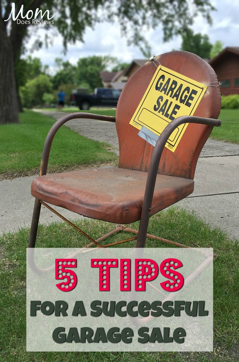 5 Tips for a Successful Garage Sale #sale #homeandliving #garagesale