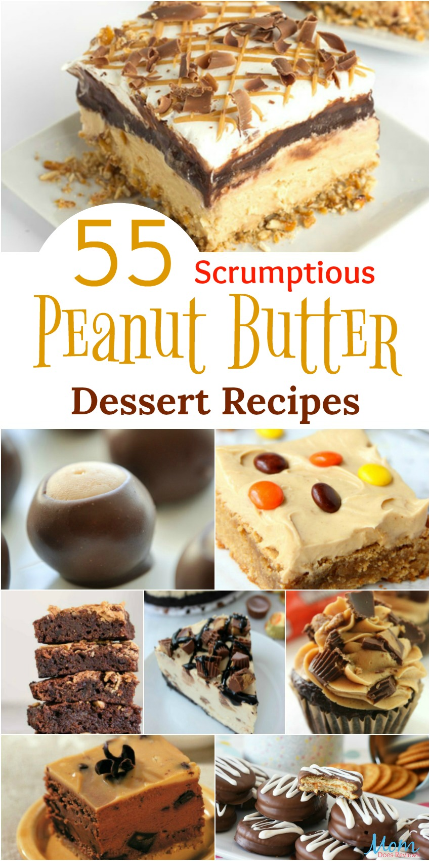 55 Scrumptious Peanut Butter Dessert Recipes that will Make you Drool {Part 1} #desserts #sweets #peanutbutter #recipes #getinmybelly