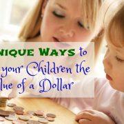 7 façons uniques d'enseigner à vos enfants la valeur d'un dollar