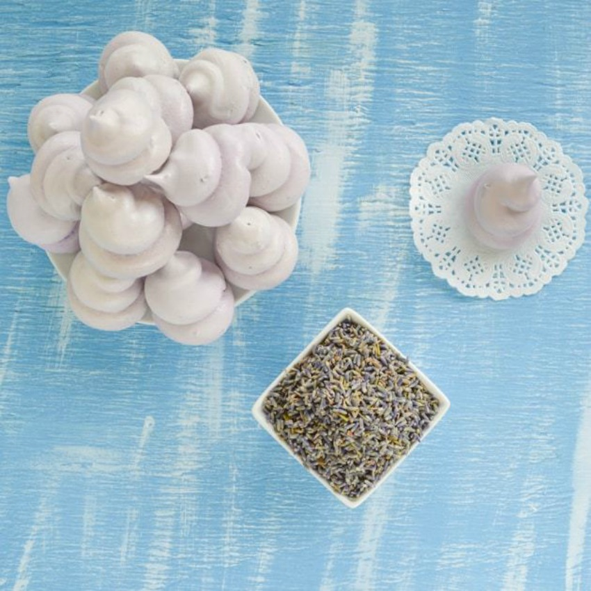Airy Lavender Meringues