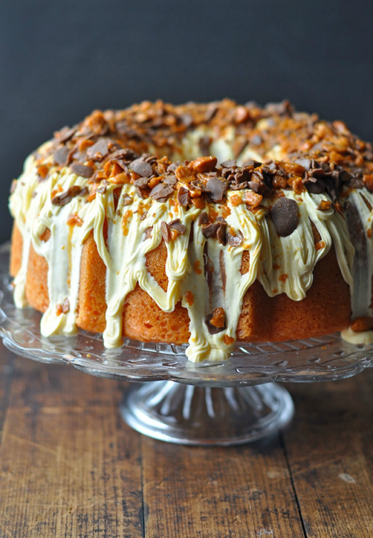 Browns Butterfinger Bundt Cake