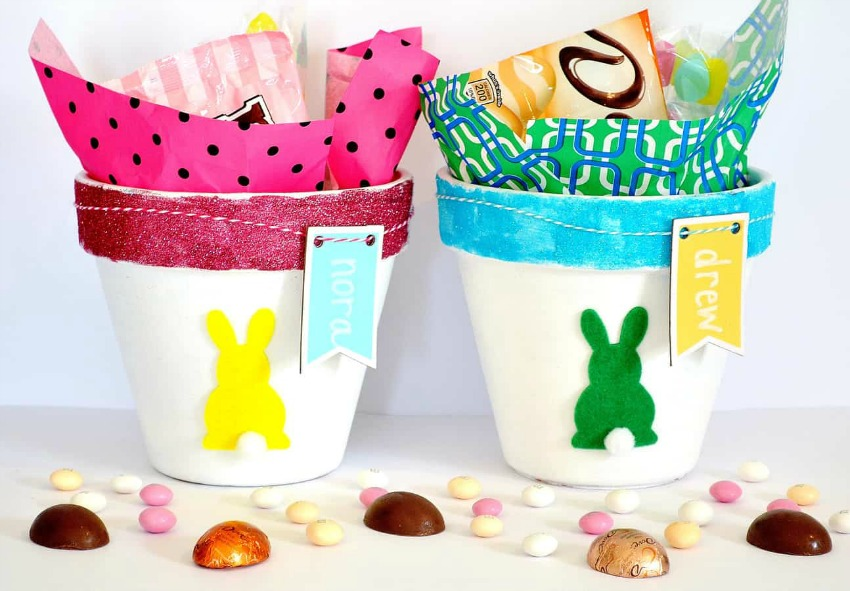 DIY Clay Pot Easter Baskets