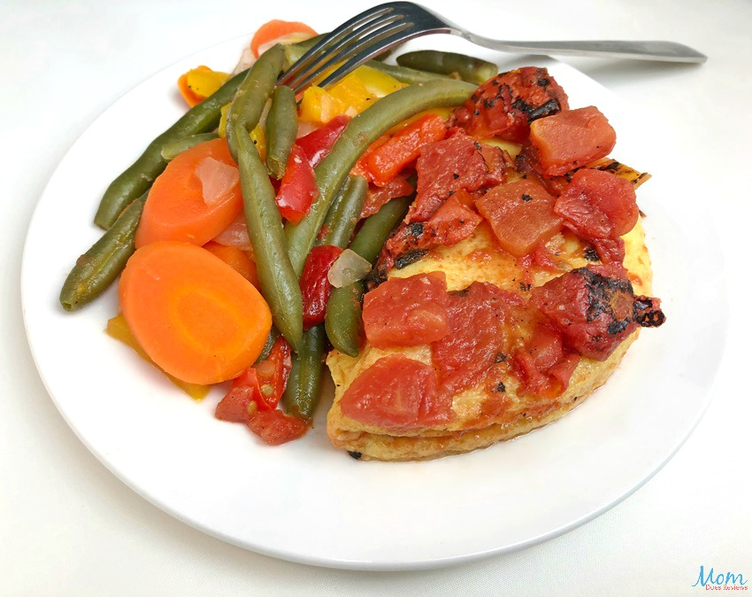 Diet-to-Go Veggie & Cheese Omelet with Fire-Roasted Tomatoes