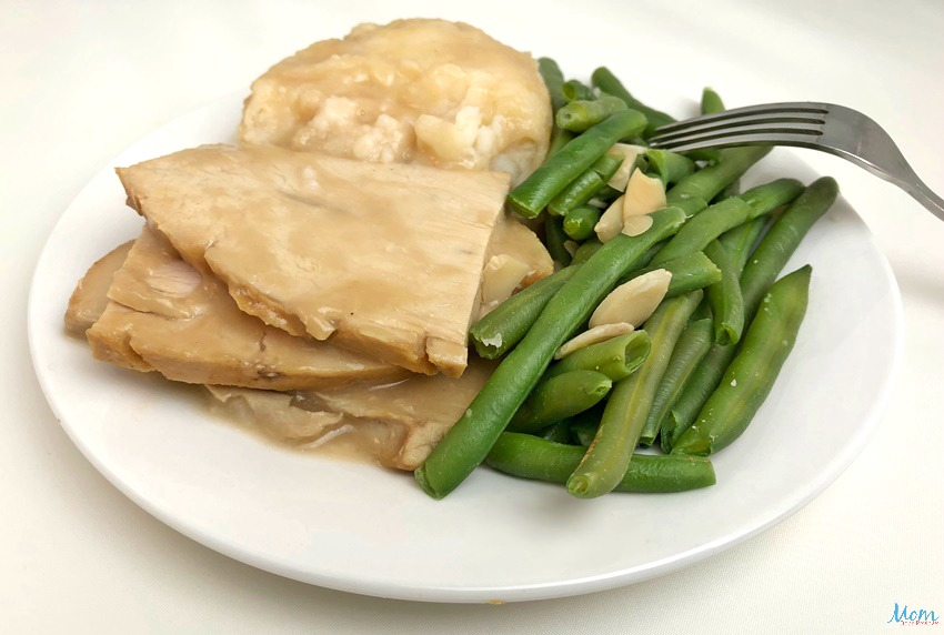 Diet-to-Go Sliced Turkey, Mashed Potatoes, Gravy, Green Beans with Almonds