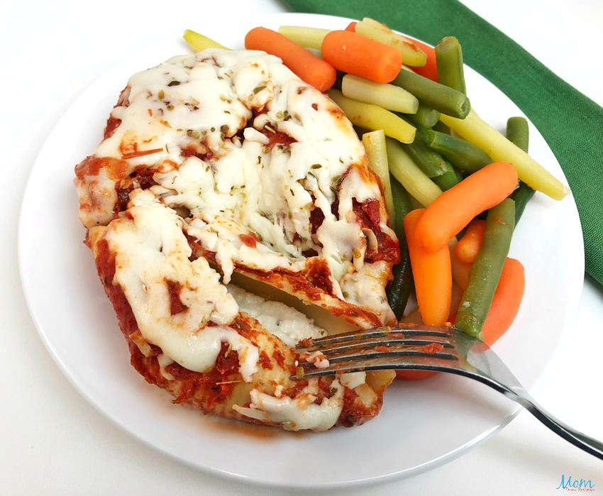 Diet-to-Go Stuffed Shells with Tomato Sauce and a German Veggie Blend