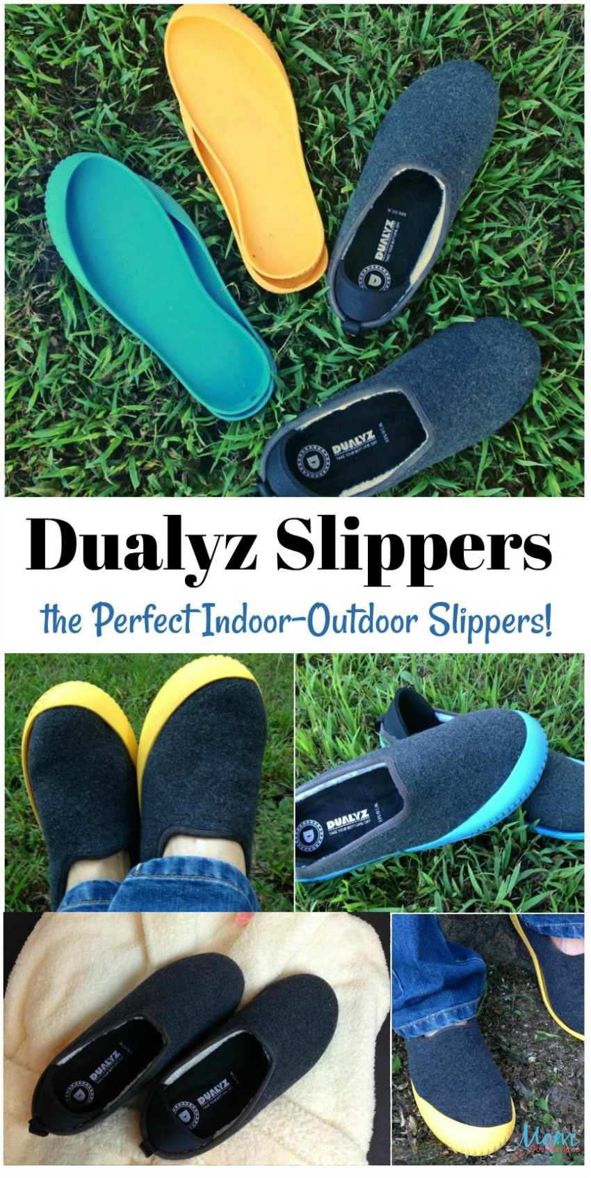 Dualyz Slippers are the Perfect Indoor-Outdoor Slipper! #takeyourbottomsoff