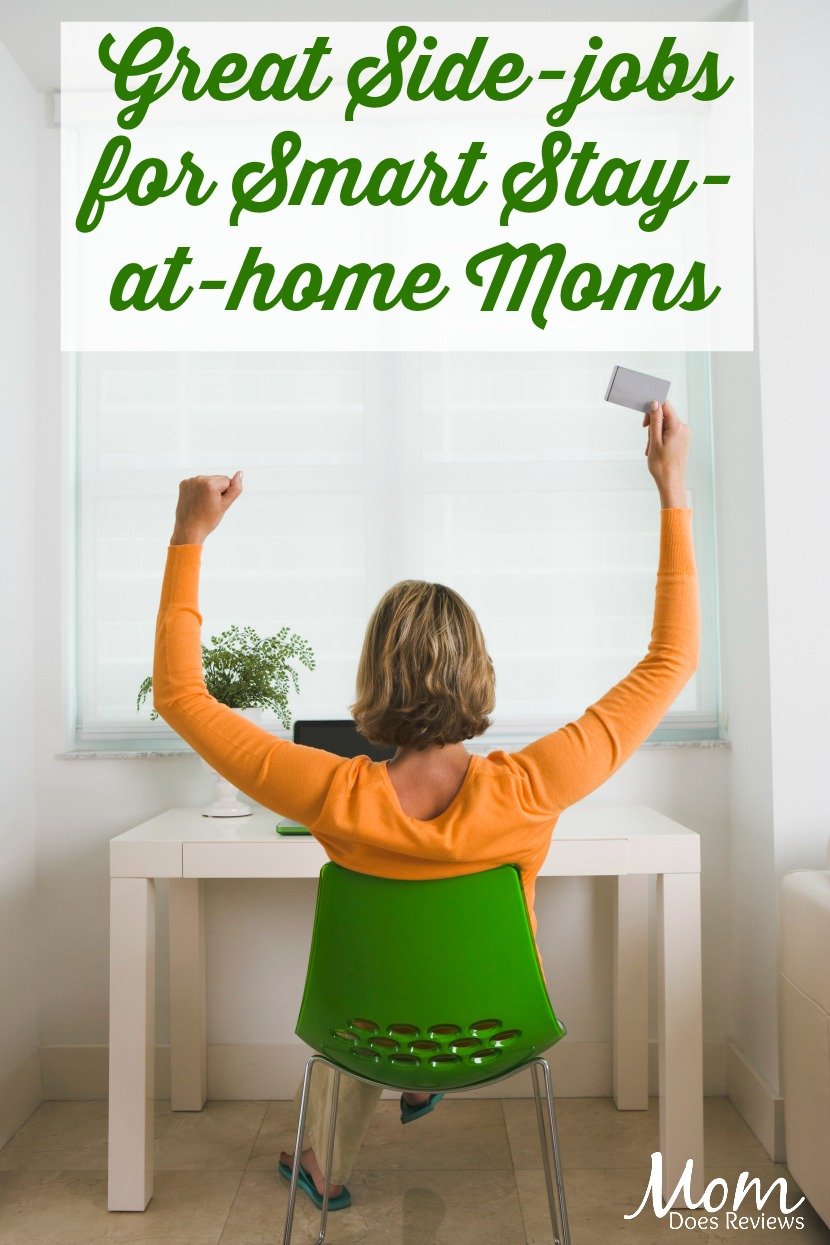 Great Side-jobs for Smart Stay-at-home Moms #sahm #jobs #workfromhome #finances