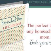 Le classeur pour la vie des mamans de l'école à la maison est maintenant disponible !!!!! #Sale
