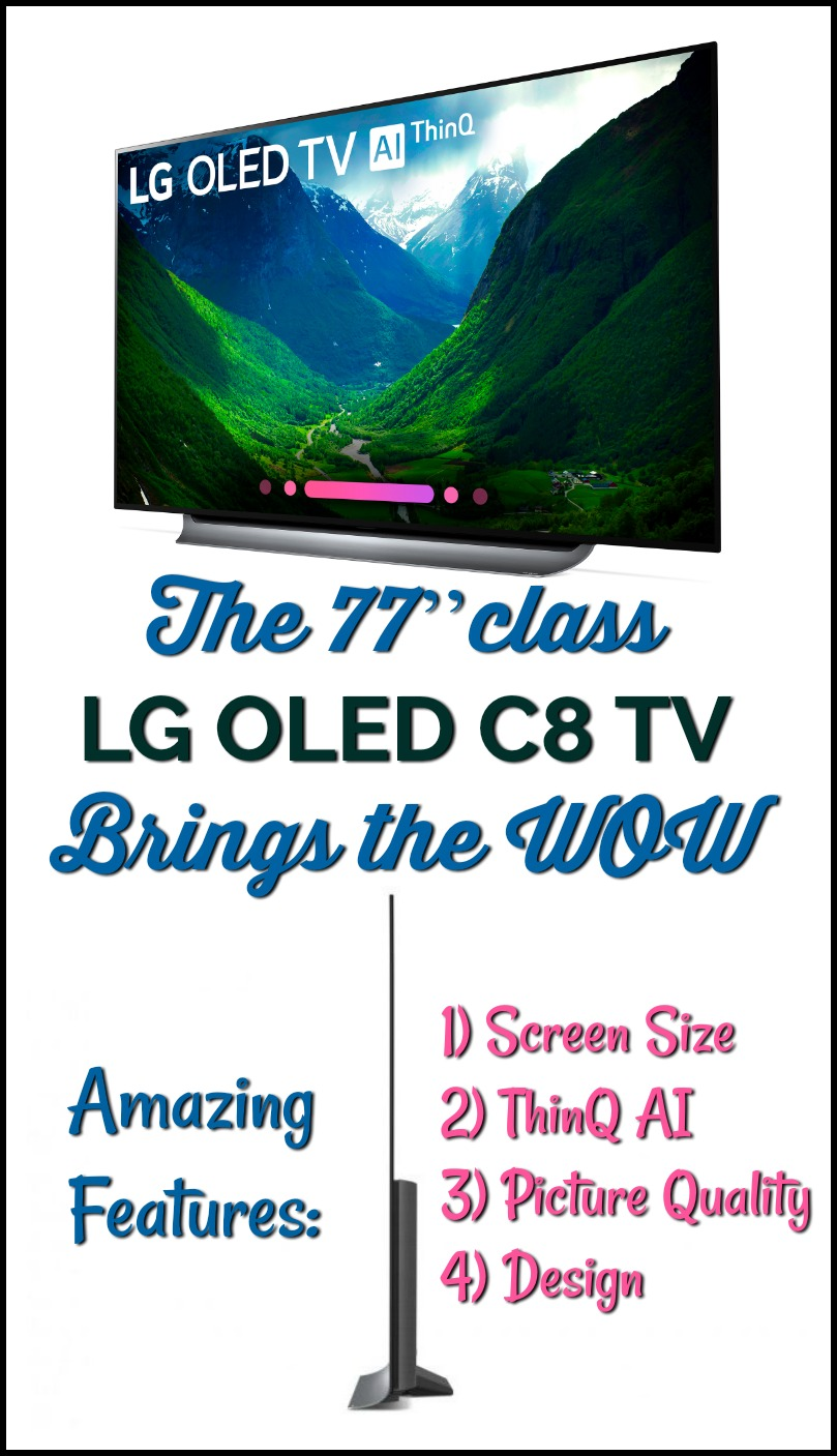 The 77'' Class LG OLED TV Steals the Show - Get your LGUS TV today at #BestBuy #technology #ad #LG #TV