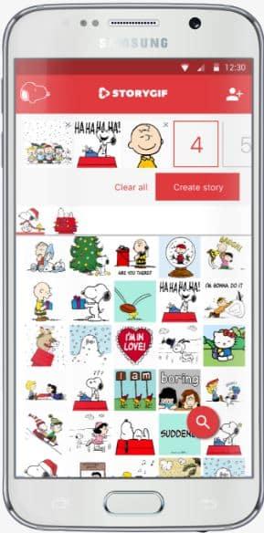 Phone Peanuts StoryGIF app image