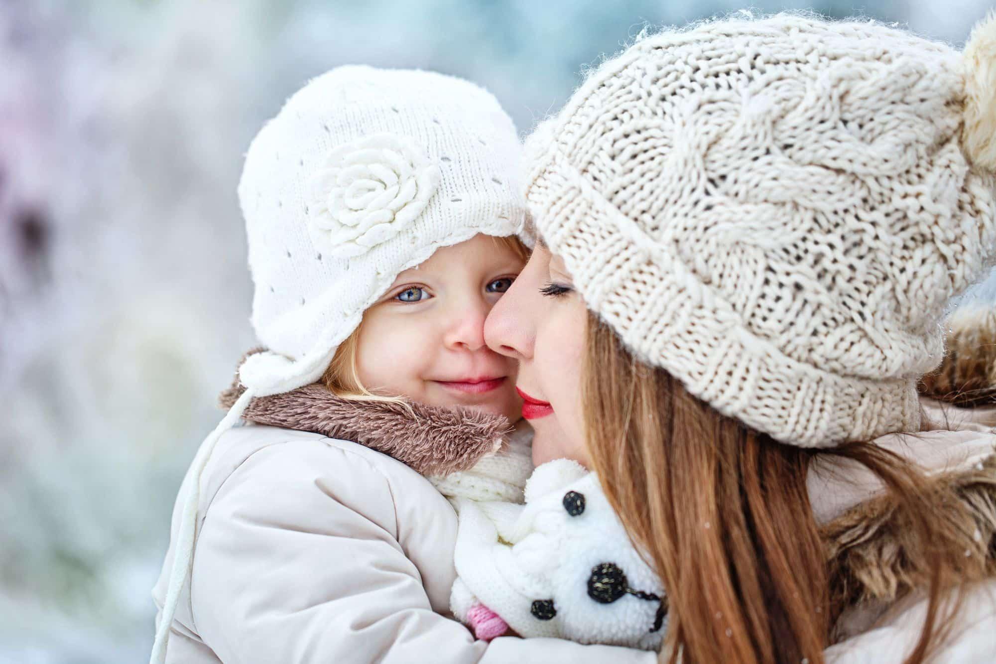 Vêtements d'hiver pour une mère et son bébé