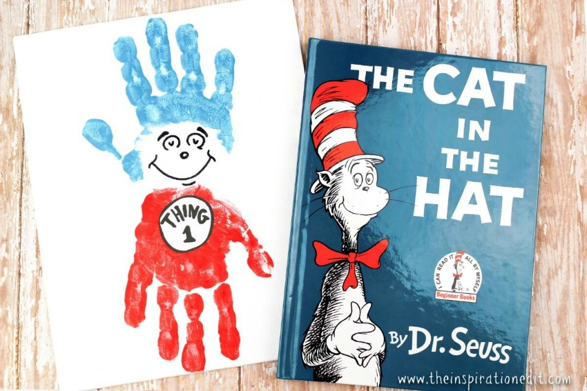Thing 1 and Thing 2 Handprint Canvas