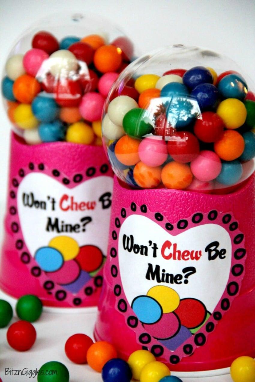 Valentine Bubblegum Machine