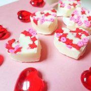 Coeurs décadents au chocolat blanc et aux amandes pour la Saint-Valentin #Sweet2019