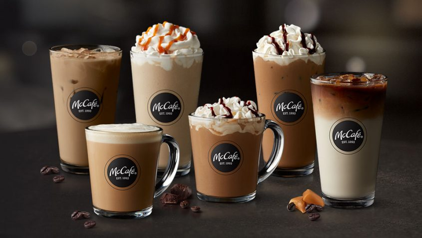 Buy 5 McCafé® beverages, get 1 free with our App Offer valid through 3/31 at participating McDonald's.