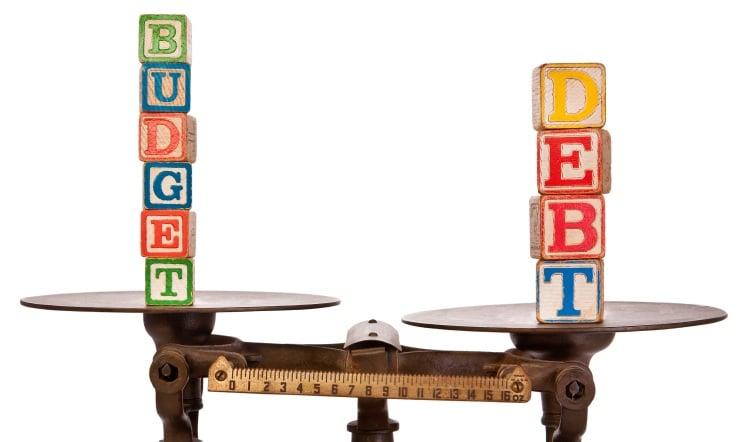 debt budget scales