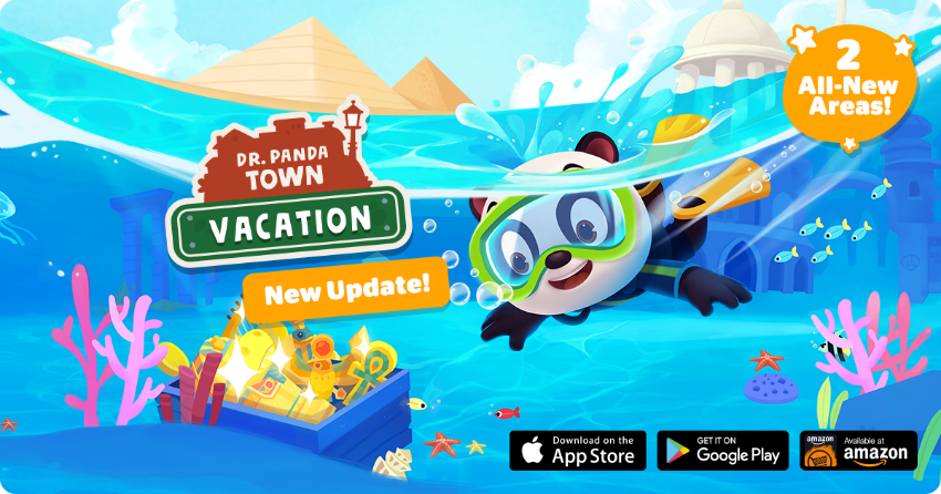 Hop Aboard And Discover New Adventures In The Dr. Panda Town: Vacation App!
