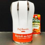 Le chef Boyardee se souvient de raviolis de bœuf mal étiquetés comme du riz avec du poulet et des légumes.