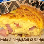 Quiche au jambon et au fromage – préférée de la famille #recevoir avec Mealthy Handblend ! #MealthyMoms