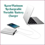 Chargeur portable myCharge RazorPlatinum #Review #myCharge