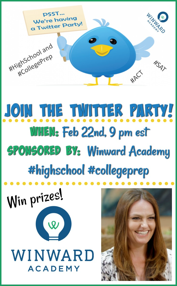 Join the Twitter Party on 2/22! #Win over $200 in PayPal Cash and over $2000 in prizes! by Winward Academy #highschool #collegeprep